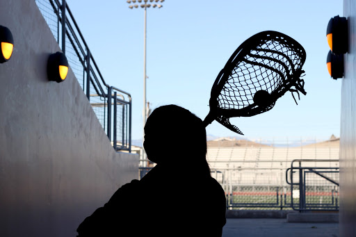 """Playing as a goalie for the girls JV lacrosse team, Berlyn Miranda, 9, enjoys everything that comes with her position. """"I enjoy being goalie a lot because it gives the team a chance to really trust me since I am the last line of defense and I'm the"""