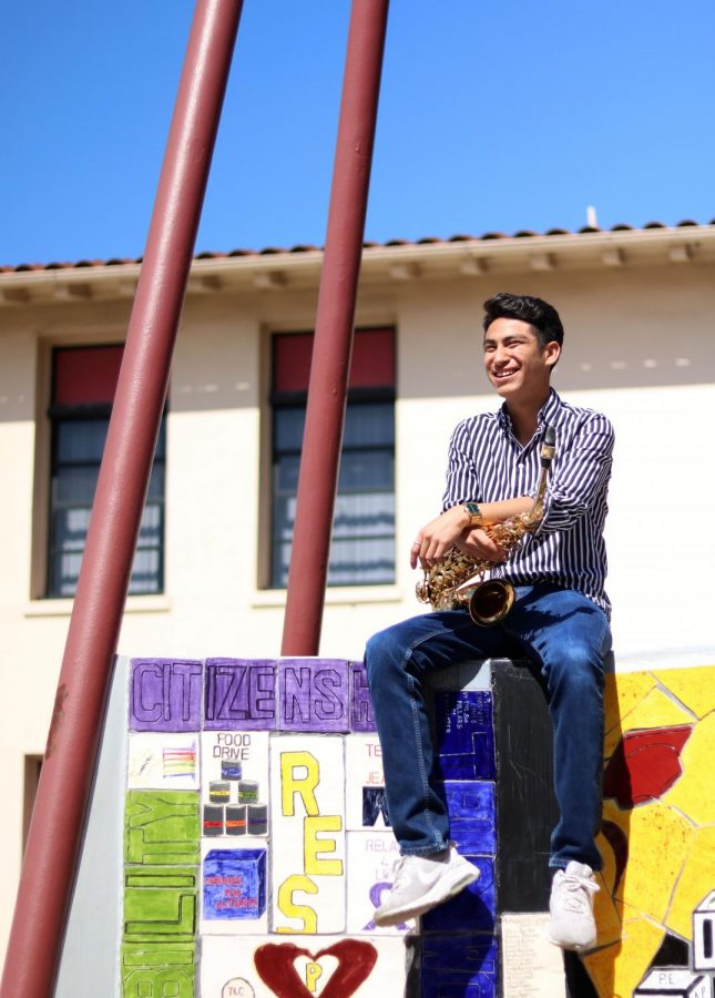 """Enjoying jazz and every little thing that comes along with it, Juan Carballo, 11, gets an immense amount of excitement before every performance he competes in. """"My favorite part of the competition was that my work paid off,"""" Carballo said. """"I was really eager to learn, but also excited and happy to find out that we won first place in my combo."""""""