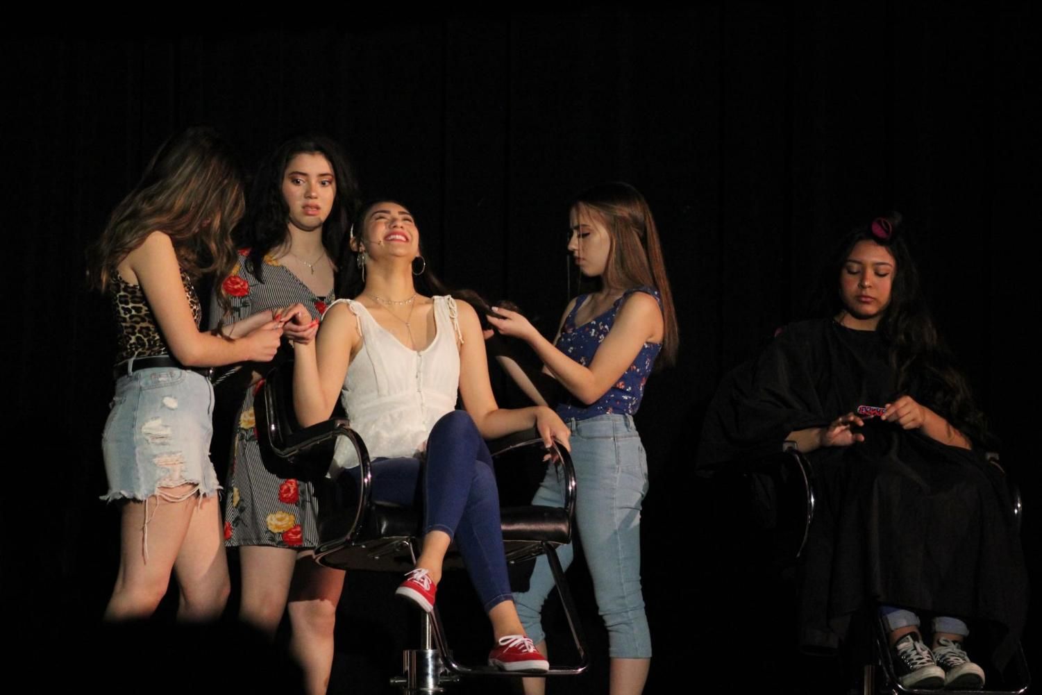 On+March+21-23+in+the+Downey+Theater%2C+Isabella+Diaz%2C+10%2C+played+the+character+Carla+during+the+DHS+Drama+production+of+In+the+Heights.+%E2%80%9CPerforming+in+front+of+everyone+is+so+exciting+and+is+a+really+good+feeling%2C%E2%80%9D+Diaz+stated.+%E2%80%9CTheatre+and+performing+in+general+is+just+really+fun+and+brings+out+a+passion+from+me.%E2%80%9D