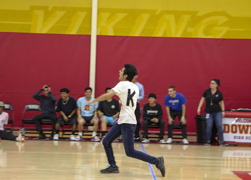 """Being the last man standing, Andrick Valdez, 10, took his team to victory at Downey High Schools Dodgeball tournament. """" It was pretty intense if you ask me. Almost all of my teammates were out of the game but me. I couldn't afford to lose no matter what."""" Valdez said.  """" With the energy left in me, I went all out ferociously as if I was Kratos using his Spartan Rage. When I threw the ball, my opponent couldn't catch it in time, leading us to victory!"""""""
