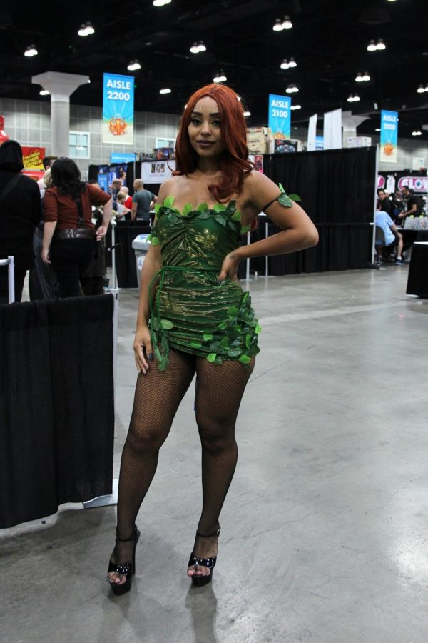 """Having a love for DC movies, Ashley Chavez, chooses to cosplay as Poison Ivy, in the attempt to be different. """"I like cosplaying because it involves imagination and creativity, I made everything from the ground up."""" Chavez continued, """"It was a whole other outfit and I made it into Poison Ivy."""""""