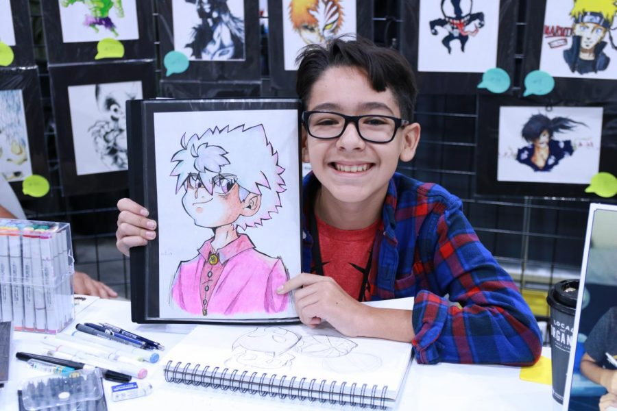 "Original characters are a common thing for artists to have and this 12-year-old artist, Emilio Gallardo, is no exception to this. ""I've been working on him for a while,"" Gallardo said, ""and so far this is my favorite version of him."""