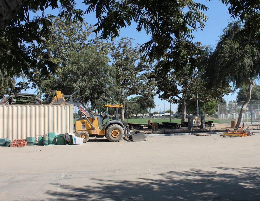 "Scattered around the entrance of the park are bulldozers and many supplies being used for the ongoing renovations that cost up to $7.29 million (including the Denace the Menace park which is under renovation as well). ""Without the 1/2 cent sales tax that the voters approved, we would not have been able to start on these improvements,"" Ashton stated, ""The first two parks to get started were Apollo Park and Dennis the Menace Park back in May and they are scheduled to open in November."""