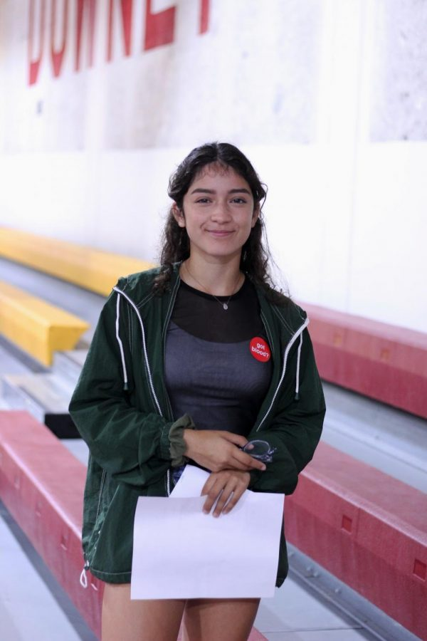 """While waiting to get called up, Senior, Mia Fernandez, was a bit nervous to donate blood for the first time. """"I have universal blood and it kinda runs in my family as well,"""" Fernandez said. """"Donating my blood could save someone's life, and I wanted to contribute as much as I could."""""""