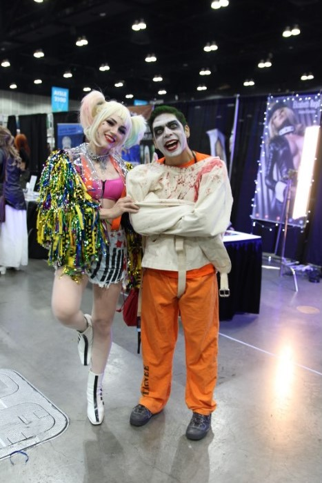 """Having Comic-Con down packed, Steph and Dan Baker, cosplaying as Harley Quinn and Joker, as professionals. Having experienced both sides of Comic-Con of working a booth and cosplaying, Steph states, """"Being on the other side and not running a booth is fun while being behind a booth is all business. I prefer being on the other side because I get to do what I love."""" Dan added on describing the process of getting ready. """"It is all in finding all the pieces to put together."""""""