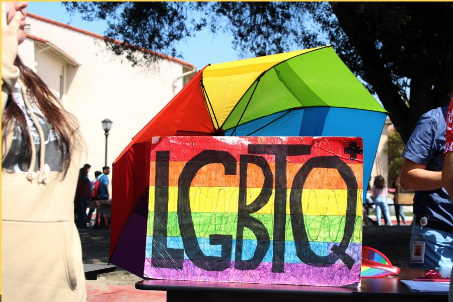 """Formerly known as the LGBTQ+ Club, the Rainbow Alliance kicked off the school year on Club Day, with their booth, spreading the awareness of the alliance and what they hope to accomplish. """"This isn't just a club for LGBTQ+ people,"""" Jezzebel Rodriguez, 11, the club's President, explains, """"We are called an alliance because we want to include other people. History states that we didn't get here by ourselves, it took help from friends, too."""""""