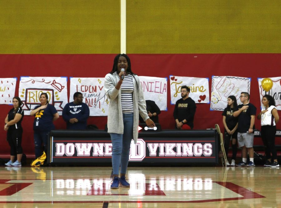 """Host of the Special Olympics home game, Junior, Rachel Delpino, explains how excited she was to bring the winning game altogether. """"It was an amazing experience, I'd definitely want to do it again,"""" Delpino said. """"I was especially excited when I was able to get some of the girls who didn't want to play basketball cheer with the cheerleaders!"""""""