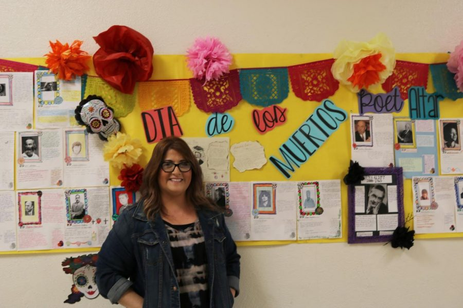 "Influenced by Mr. Vazquez, Mrs. Ordway, English teacher, made her own ofrenda combining American literature with Mexican culture to remember famous poets. ""Having individuals come up to me and told me that they didn't know Dr. Seuss did x,y, and z or a particular author looked like this, which was very cool,"" Ordway stated. ""I hope this ofrenda make individuals take the time to remember some of the poets and the words they left. If we can make connections with poets' lives, then I feel like my job is done."""