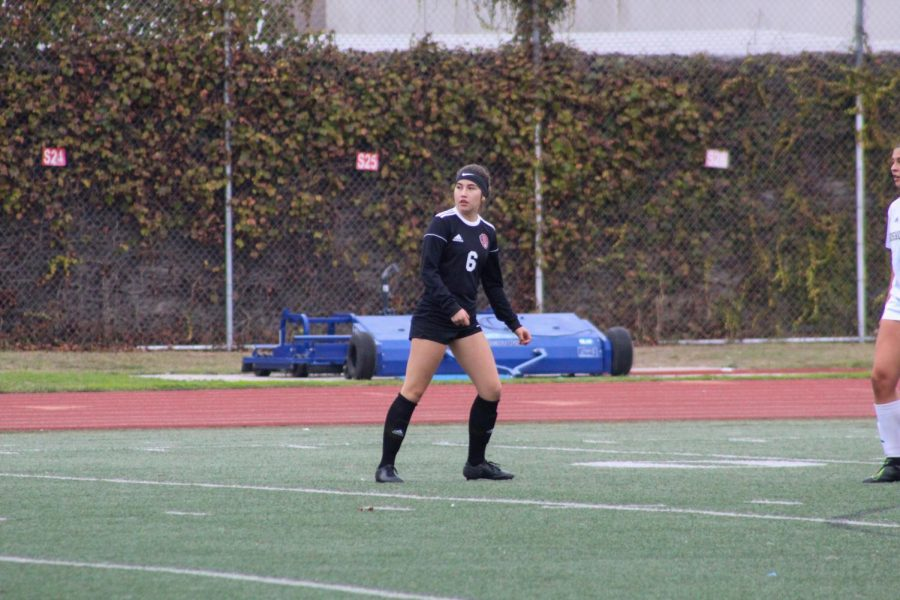 """Starting off the pre-season, senior, Sam Sanchez and her team end the game with a score of 1-1 against Bishop Amat. """"I felt that it was a really good game and that our work ethic is really good, but we just need to improve on our finishing/being in the attacking third"""" Sanchez said."""