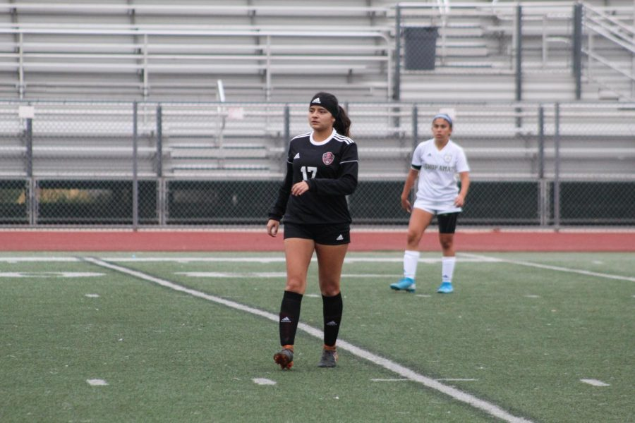 Hoping+to+win+CIF+this+year%2C+senior%2C+Kristen+Salguero+wants+to+finish+her+last+high+school+soccer+season+on+a+strong+note.+%E2%80%9CSince+it+was+my+first+game+of+pre-season%2C+I+was+a+little+nervous+but+overall+I+know+I+played+my+hardest%2C%E2%80%9D+Salguero+said.+%E2%80%9CI%E2%80%99m+sad+that+this+is+my+last+chance+to+play+high+school+soccer%2C+but+I+know+that+I+will+leave+the+program+feeling+proud+of+all+we+accomplished.%E2%80%9D