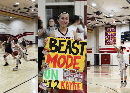 "With a four-year sweep against Warren High School,  Kaylie Lara, 12, started her freshman year at junior varsity and shortly after joined the higher level of competitiveness: varsity. ""Making CIF playoffs division two would be my favorite memory because it was a surreal experience, I never thought I'd be there."" Lara stated, ""I have been playing basketball for so long that it makes me sad because I blinked and now I am playing my last basketball game."""
