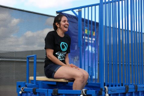 "Instead of sleeping in or going out to work, Blanca Pacheco, Downey's Mayor, volunteers her Saturday morning to be dunked in freezing cold water. ""It's so exciting but also so scary when you're sitting up there because you never know when the ball will hit,"" Mayor Pacheco said. ""I'd gladly volunteer to come again next year and be dunked again, I think it's amazing what these kids are doing- events like these are important to help spread awareness."""