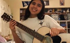 """Many people have started learning to play a new instrument, including Amy Echegoyen, 11. """"A new hobby I started during quarantine is learning how to play guitar. It has helped me by distracting myself and making me stay at home easier. I'm hoping to get really good [at playing] to surprise my family."""""""