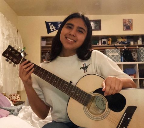 "Many people have started learning to play a new instrument, including Amy Echegoyen, 11. ""A new hobby I started during quarantine is learning how to play guitar. It has helped me by distracting myself and making me stay at home easier. I'm hoping to get really good [at playing] to surprise my family."""