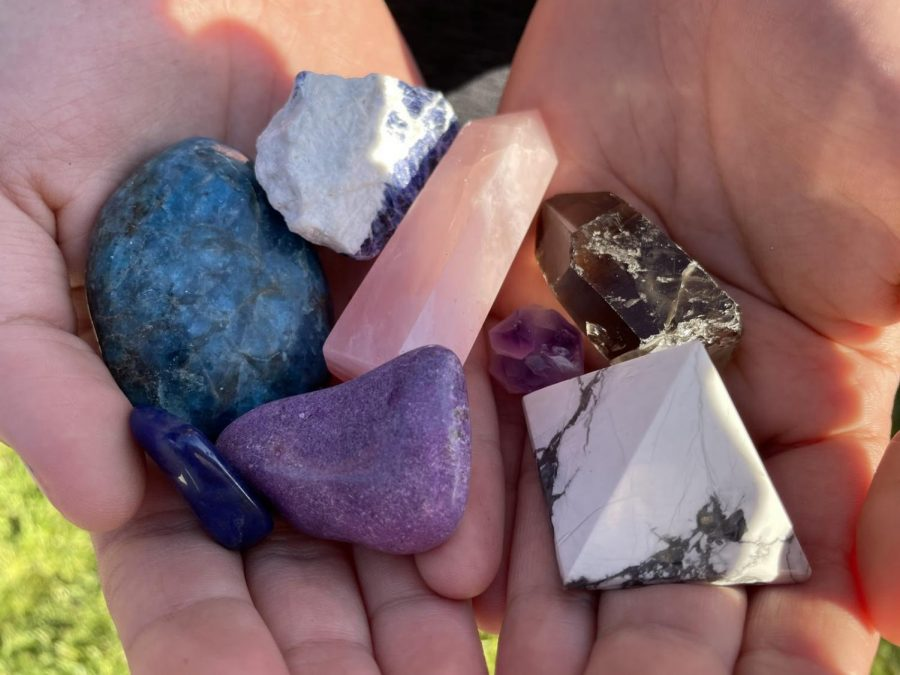 "Over the past few months, crystal-related small businesses have become more prevalent, along with an increase in individuals who have implemented the use of crystals into their daily lives. Those who practice crystal healing, like Ashley Vera, 11, express their opinions on the sudden rise in popularity of crystals. ""I like how people are starting to wear them more, but to be honest it's not just for decoration or just regular jewelry,"" Vera expressed. ""People just like it because it's pretty, I say people should actually know what the meaning behind the crystals is and to believe in it."""