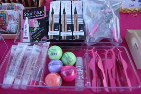 """Having started her business in February 2021, Arianna Chavez, 11, hopes to highlight the importance of cruelty-free makeup with the products she sells at the Fall Flea.  For the future of her business, Chavez hopes to implement more sustainable packaging for her products to reduce waste contribution.  """"I wanted people to know the importance of cruelty free makeup. All the makeup I sell is cruelty free brands, including my lash line and my lash serum which is both organic and cruelty-free,"""" Chavez said.  """"We're also working on more environmentally safe products, which is where we're hoping our brand goes next."""""""